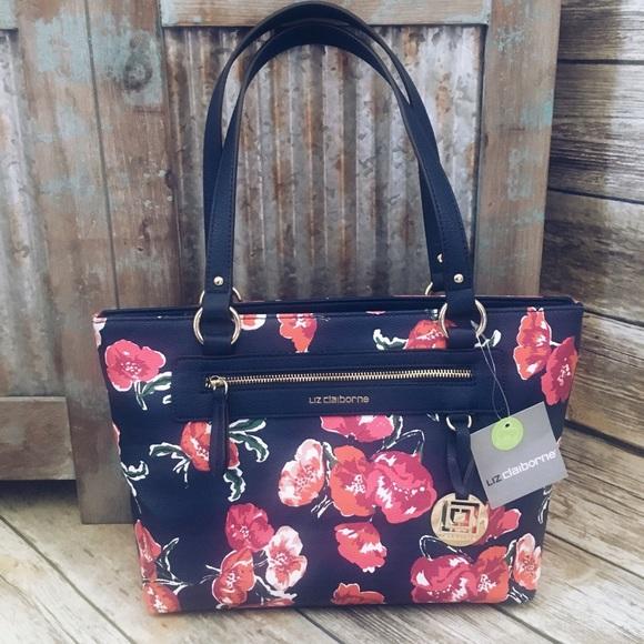 5395ef00d0b Liz Claiborne Bags   Party Sale Jess Tote Floral   Poshmark